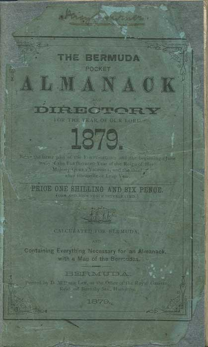 BERMUDA The Bermuda Pocket Almanack for the year of Our Lord 1879