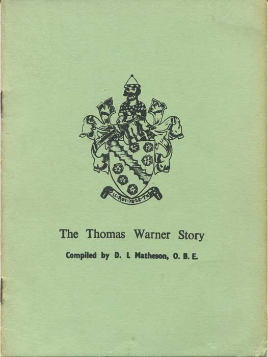 MATHESON D.L. The Thomas Warner Story