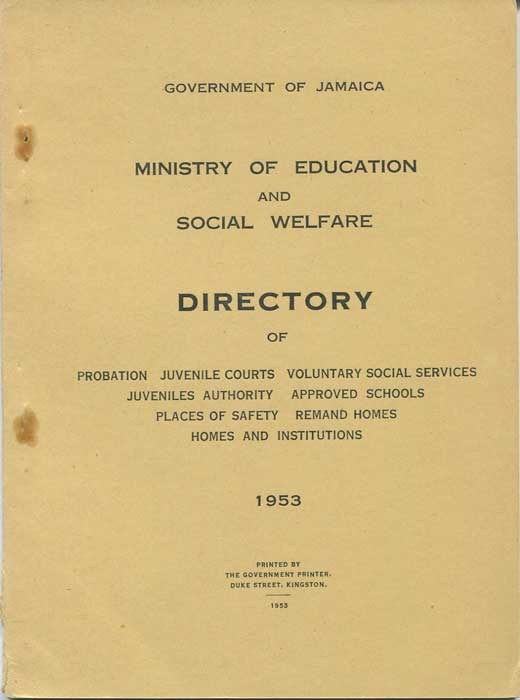 JAMAICA Ministry of Education & Social Welfare Directory
