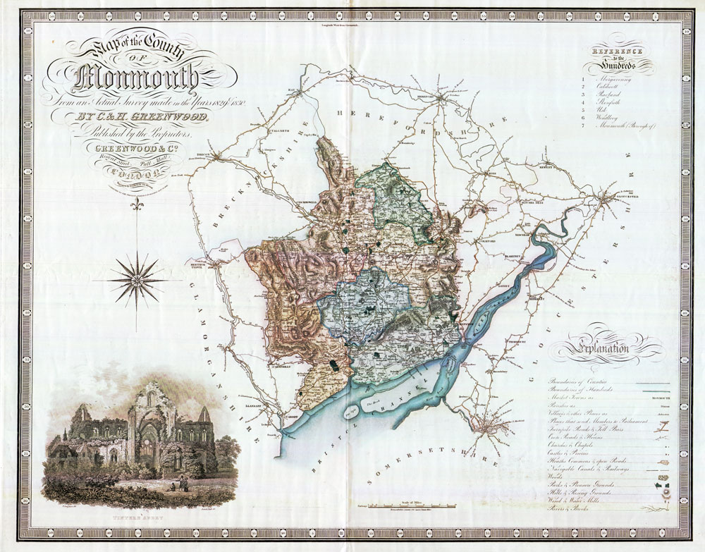 GREENWOOD C & H Map of the County of Monmouth - from an actual survey made in the years 1829 & 1830.