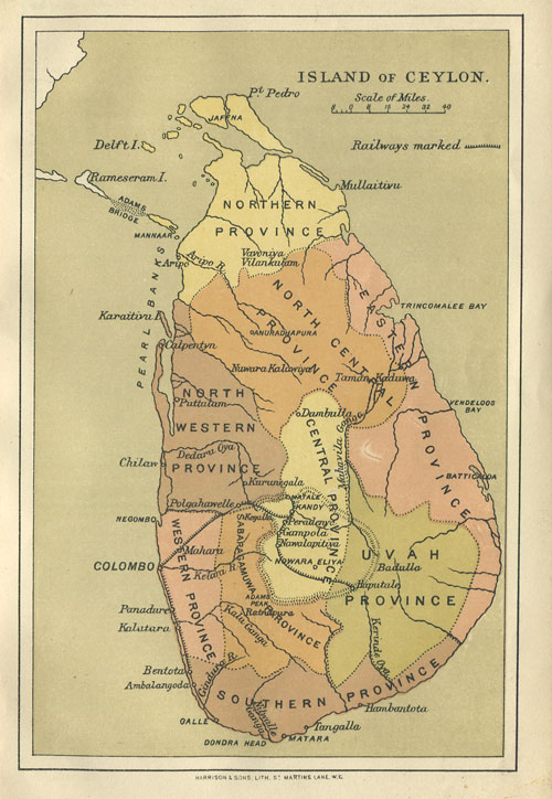 HARRISON & SONS Island of Ceylon.