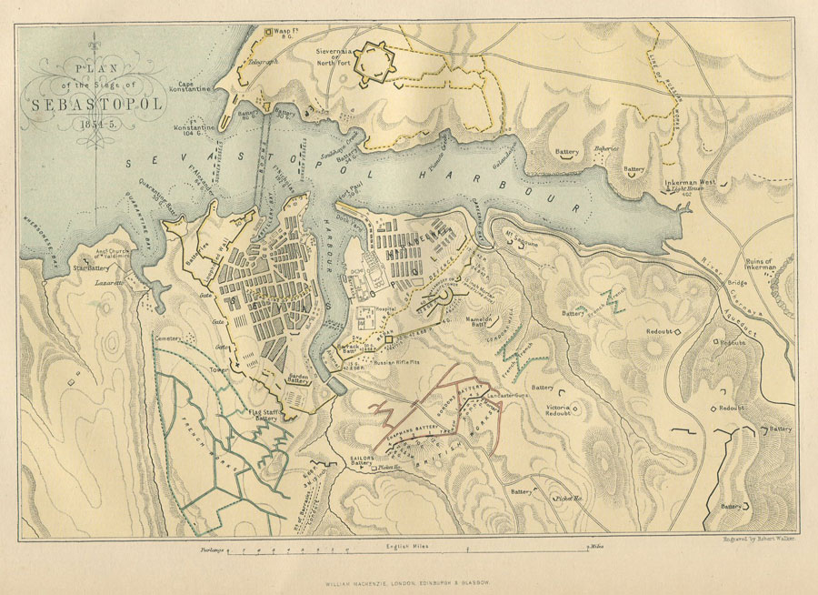 ANON Plan of the Siege of Sebastopol 1854-5