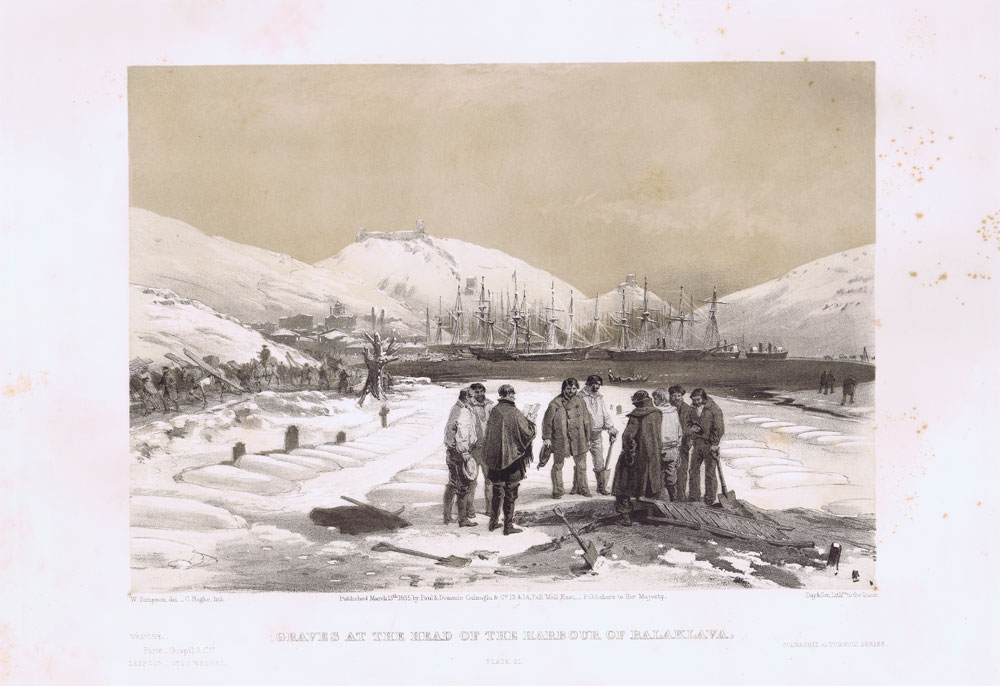 SIMPSON William and PICKEN T. Graves at the head of the harbour of Balaklava.