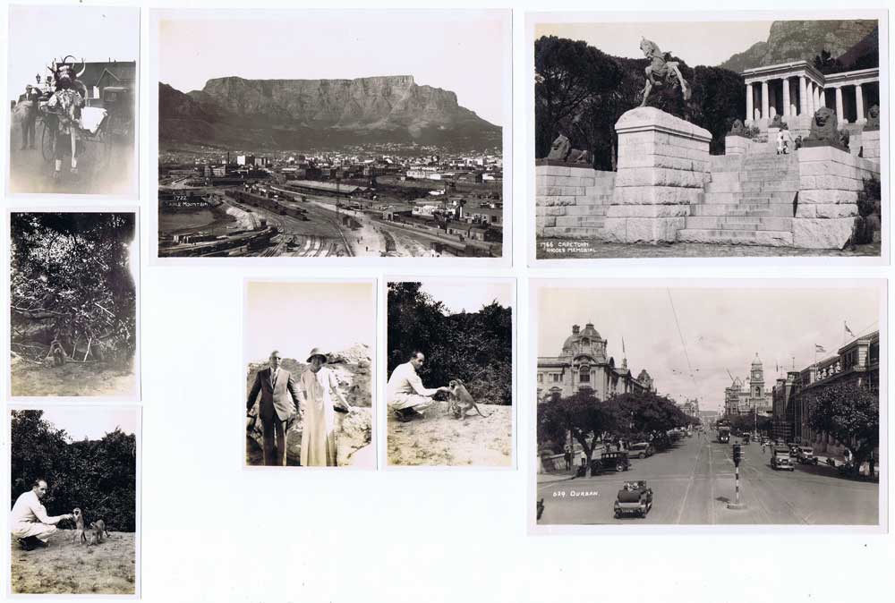 SOUTH AFRICA Photo views of Captetown in 1935.