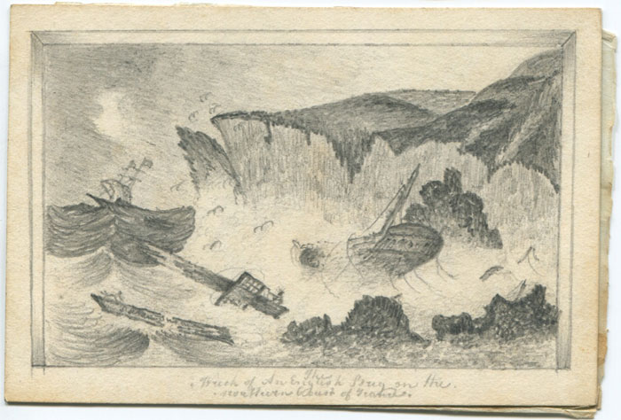 1824 The Wreck of an English Brig on the northern coast of  (?)