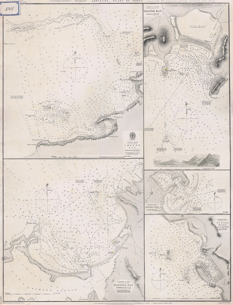ADMIRALTY CHART Antilles - Plans of Ports.