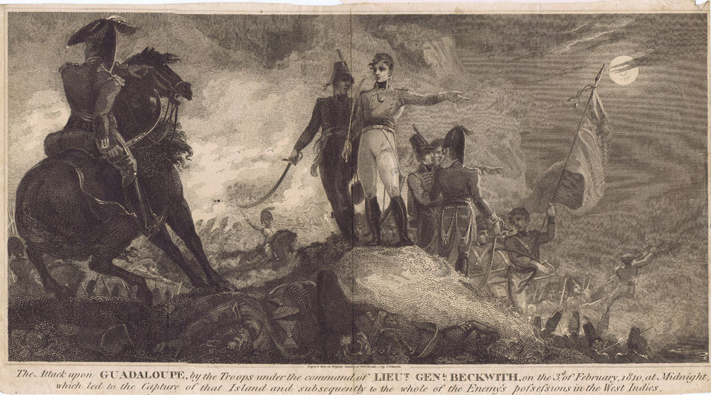 BRROKE William H. The Attack upon Guadeloupe, by the troops under the command of Lt. Gen. Beckwith, on the 3rd of February 1810 at midnight