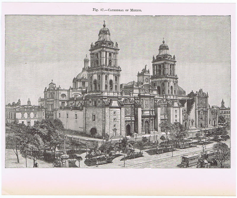 MEUNIER Cathedral of Mexico.