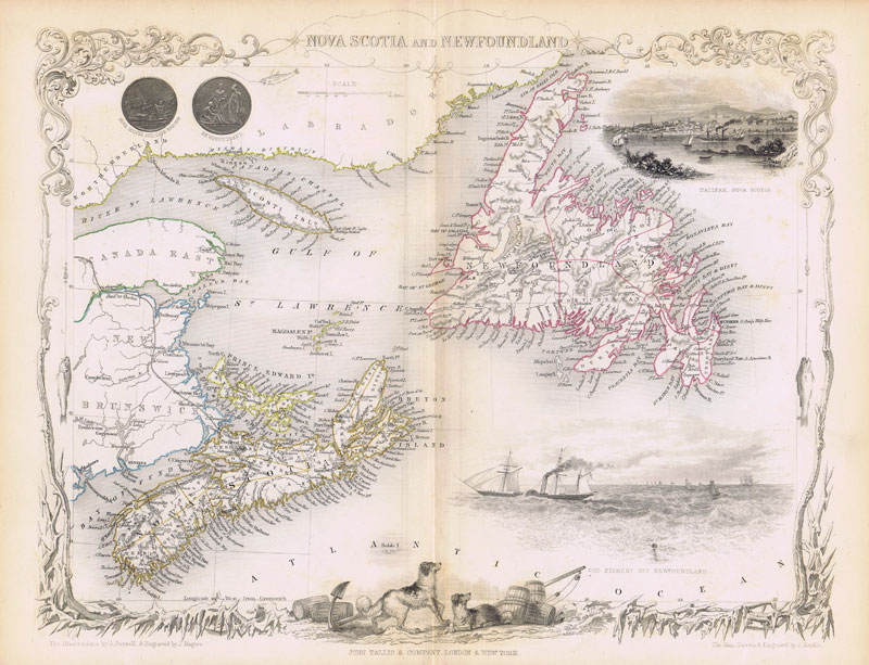 TALLIS John Nova Scotia and Newfoundland.