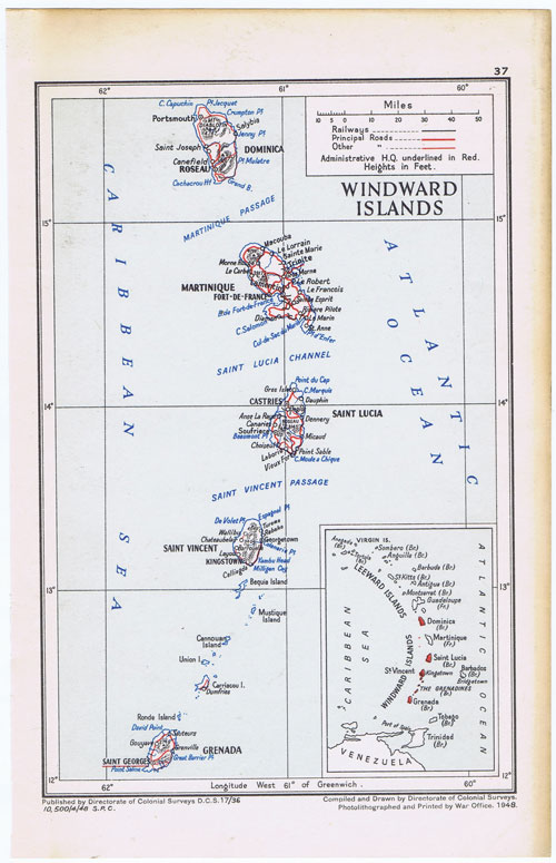 COLONIAL SURVEYS Windward Islands.