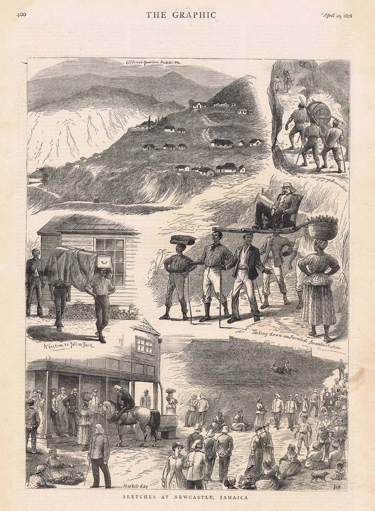 1878 Sketches at Newcastle, Jamaica.