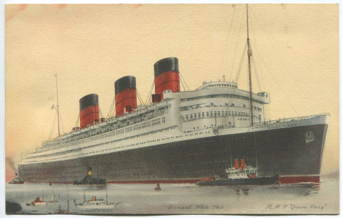 1937 Cunard White Star R.M.S. Queen Mary  souvenir card