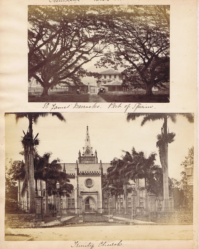 Trinidad Photographs. St James Barracks, Port of Spain and Trinity Church.