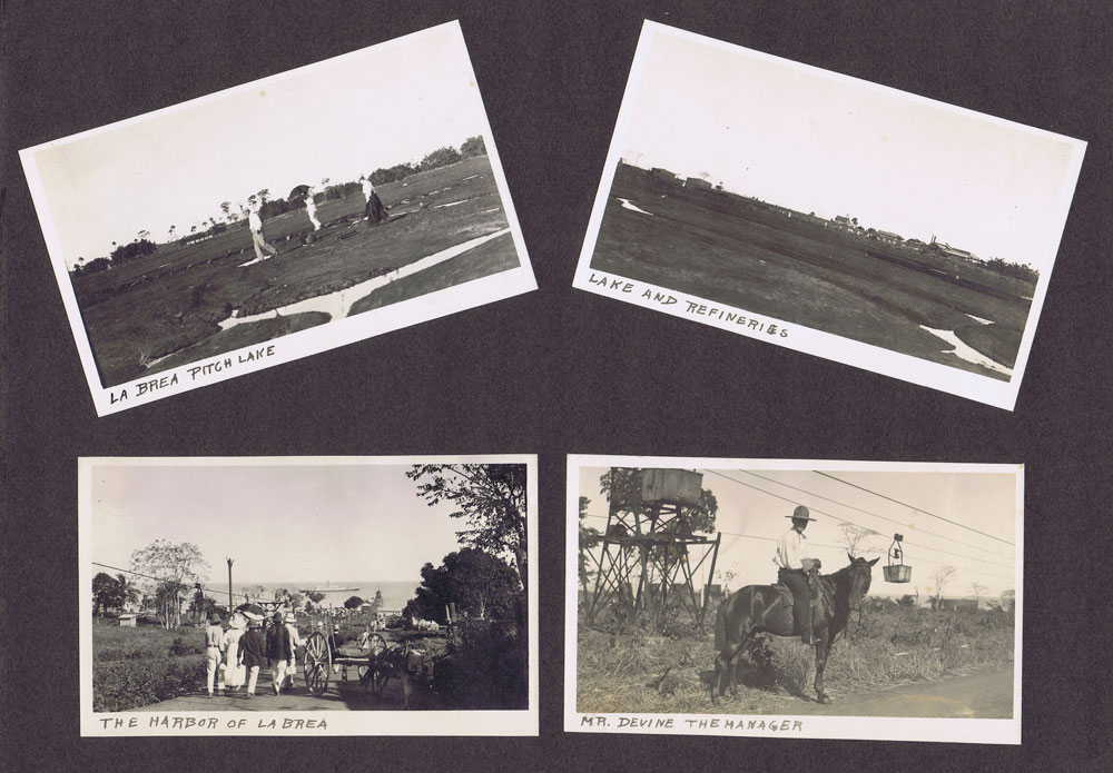 1910 (circa) pages from a photo album showing views of Trinidad.
