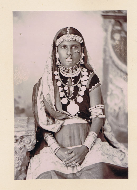 1890 (circa) pages from a the Lamont family photo album showing Indian lady.