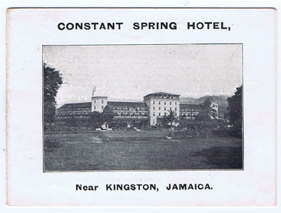 ANON Constant Spring Hotel, near Kingston Jamaica.