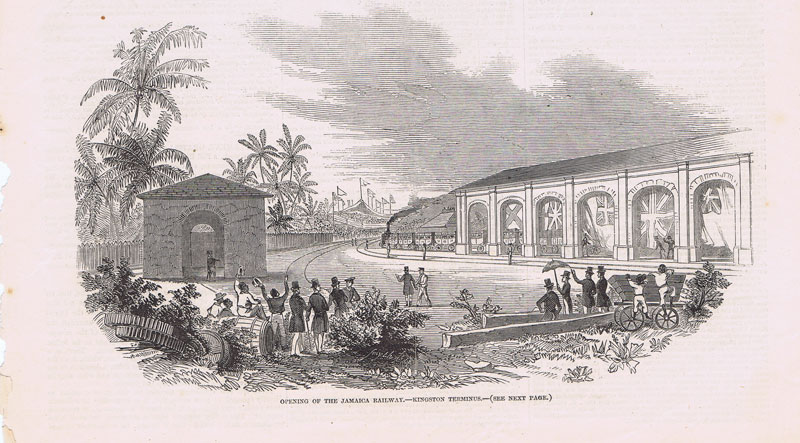 JAMAICA Opening of the Jamaica Railway - Kingston Terminus.