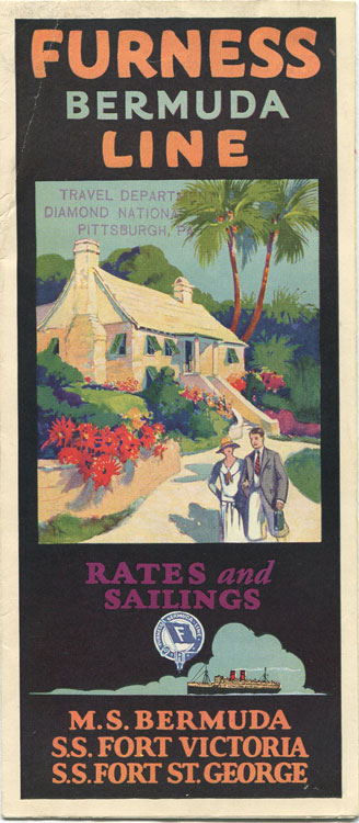 1927 Furness Bermuda Line folding brochure