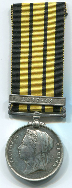 1898 East and West Africa Medal 1887-1900, 1 clasp: 1897-98. Awarded to Pt. N. Price, 2nd West India Regiment.