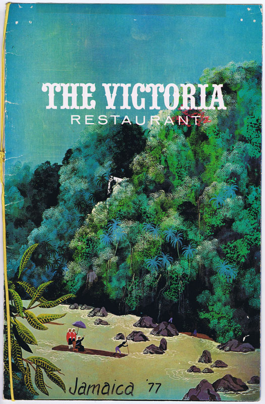 THE VICTORIANA RESTAURANT Menu.