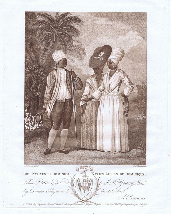 BRUNIAS Agustino Free Natives of Dominica.