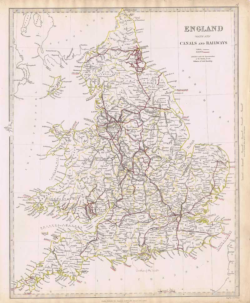 J. & C. WALKER England with its canals and railways