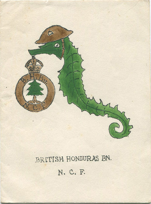BRITISH HONDURAS BN N.C.F. Christmas card