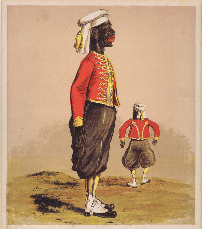 SECCOMBE Thomas Strong Soldier of the Second West India regiment in Zouave uniform