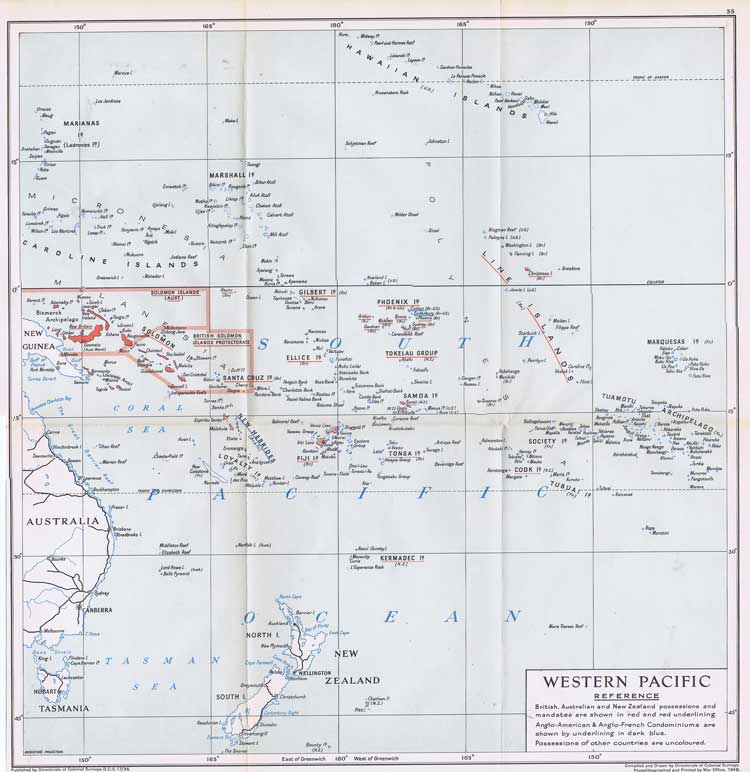 COLONIAL SURVEYS Western Pacific