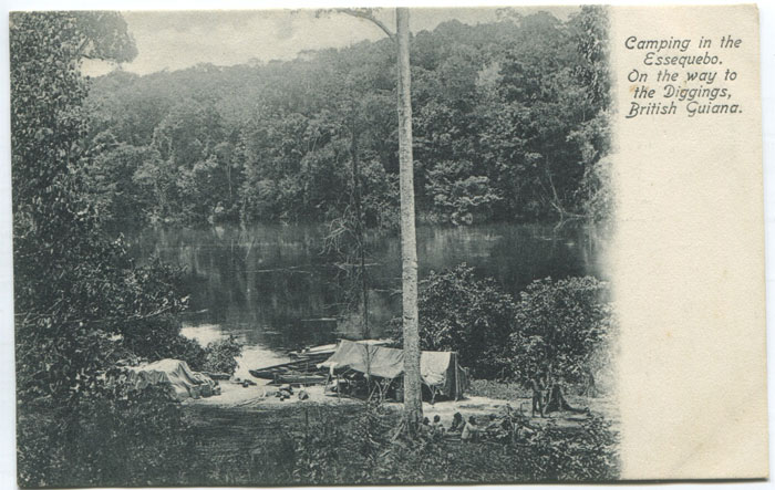 SMITH BROS. & CO LTD. Camping in the Essequebo. On the way to the Diggings, British Guiana.