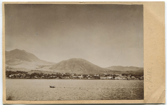 1902 photograph of St Kitts from the sea