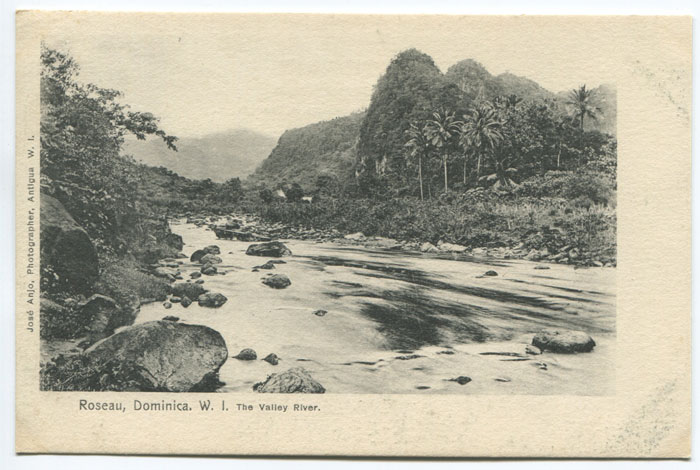 JOSE ANJO Roseau Dominica W.I. The Valley River.