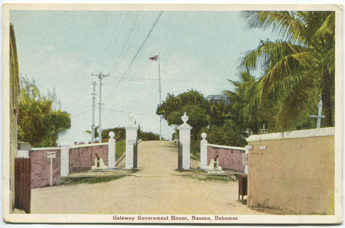 W.R. SAUNDERS and I.O. SANDS Gateway Government House, Nassau, Bahamas. - No 31