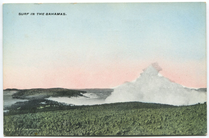 F.S. ARMBRISTER Surf in the Bahamas.