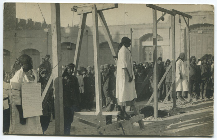 JERUSALEM Execution of Christian deserters from the Turkish army, outside Damascus Gate, Jerusalem.