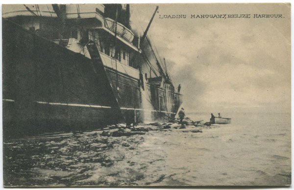 PHOTO & ART POSTAL CARD CO. Loading Mahogany, Belize Harbour.