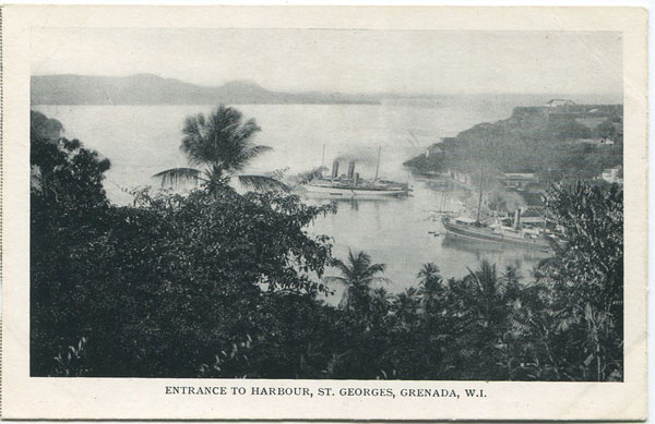 ANON Entrance to harbour, St Georges, Grenada, W.I.