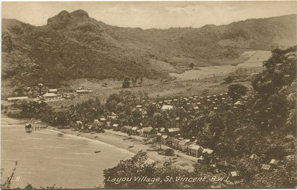 RAPHAEL TUCK & SONS Layou Village, St Vincent B.W.I.
