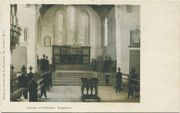 W.C. PROUDFOOT Interior of Cathedral, Kingstown.