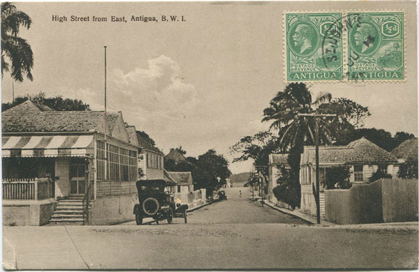 JOSE ANJO High Street from East, Antigua, B.W.I.