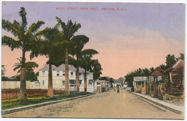 JOSE ANJO Nevis Street from East, Antigua, B.W.I.