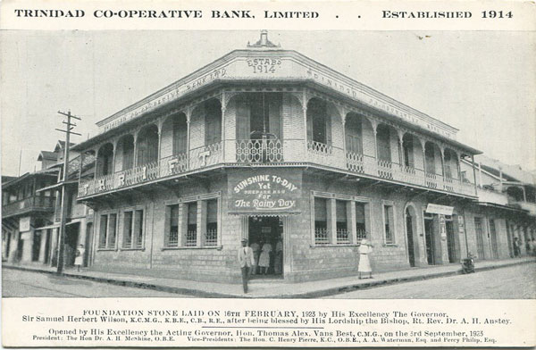 ANON Trinidad Co-Operative Bank, Limited. Established 1914.