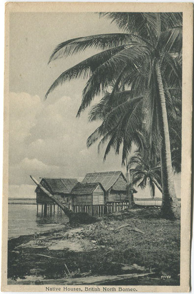 FUNK & SONS Native Houses, British North Borneo.