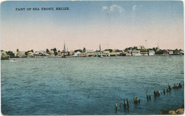 A.E. MORLAN Part of the Sea Front, Belize.