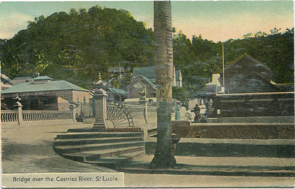 CLARKE & CO Bridge over Castries River, St Lucia. - No. 5
