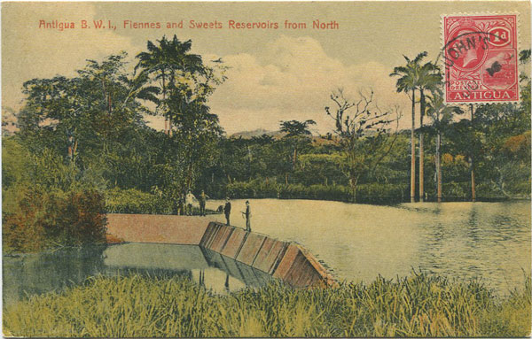 JOSE ANJO Antigua B.W.I., Fiennes and Sweets Reservoirs from North.