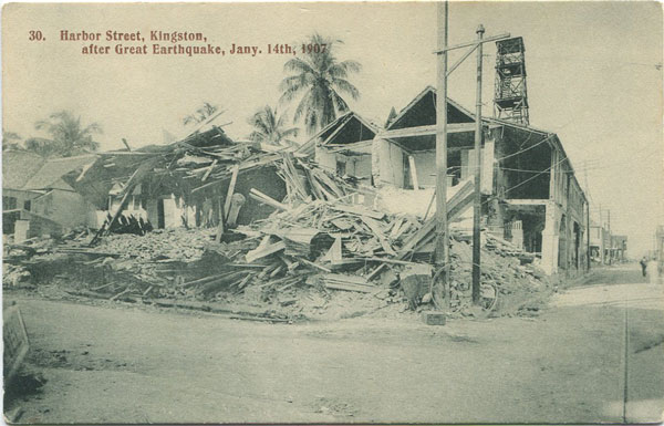 ANON 30. Harbour Street, Kingston, after Great Earthquake, Jany, 14th, 1907.