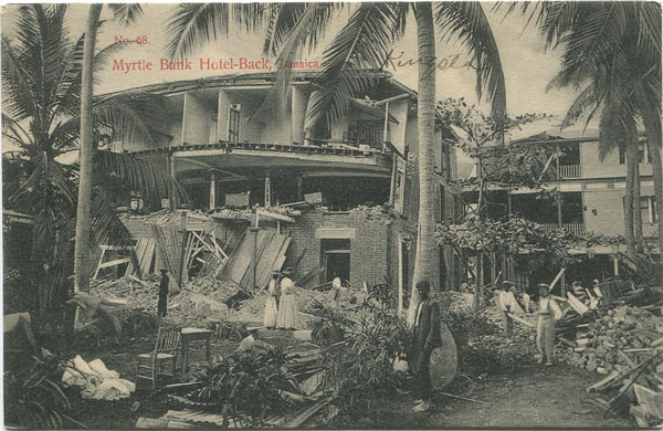 J.W. CLEARY Myrtle Bank Hotel - Back, Jamaica.