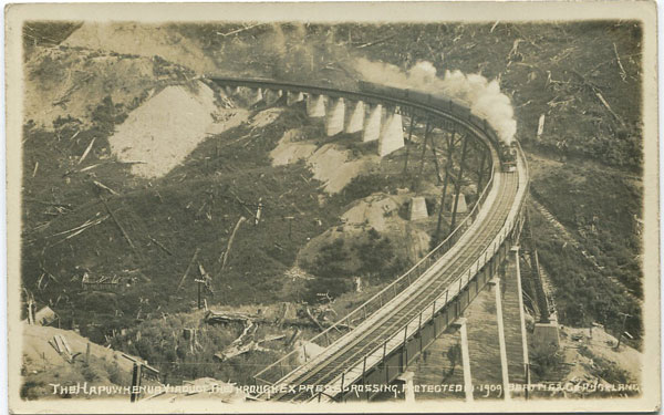 1909 The Hapuwhenua Viaduct. The Through Express Crossing.
