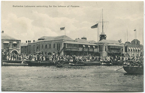 W.L. JOHNSON & CO LTD Barbadian Labourers embarking for the Isthmus of Panama.